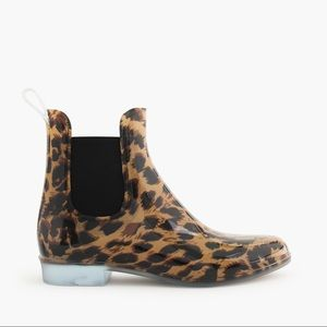 J. Crew | Leopard Chelsea Rain-boots